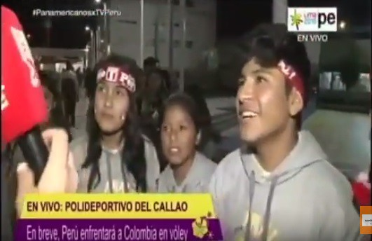 TV Perú: Red ANALIT alentando a la selección peruana de voley